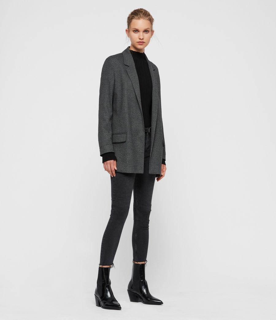 Femmes Blazer Gris à Carreaux Anneka (grey_black) - Image 3