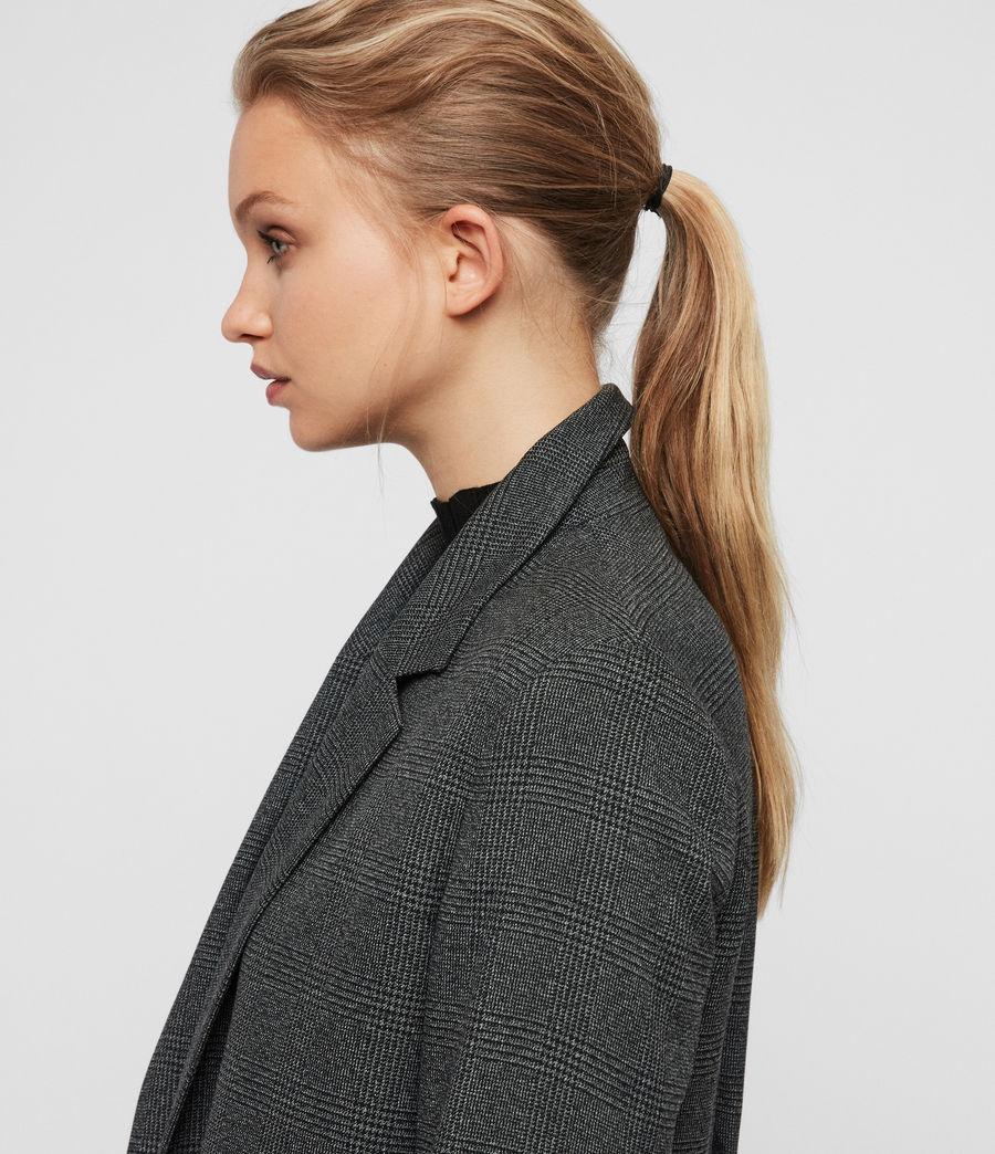 Femmes Blazer Gris à Carreaux Anneka (grey_black) - Image 4