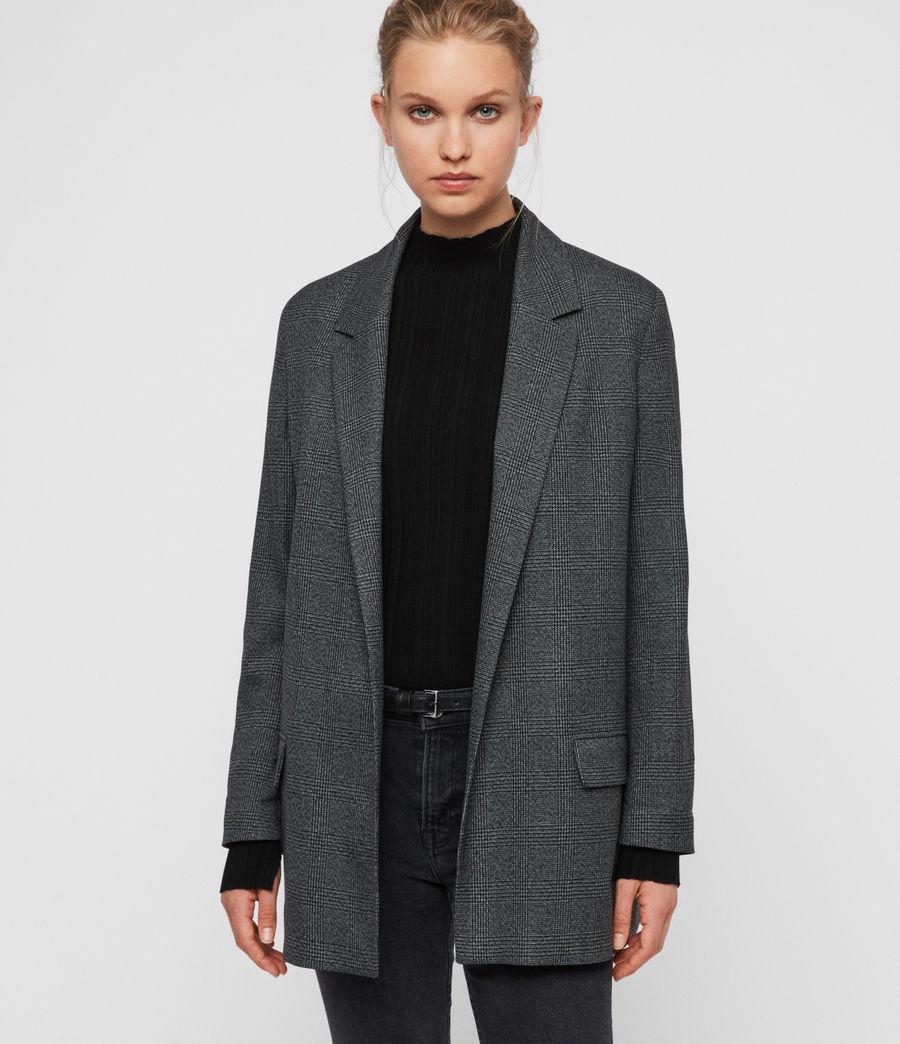 Femmes Blazer Gris à Carreaux Anneka (grey_black) - Image 5
