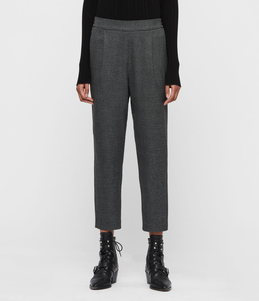 Women's Anneka Check Trousers (grey_black) - Image 1