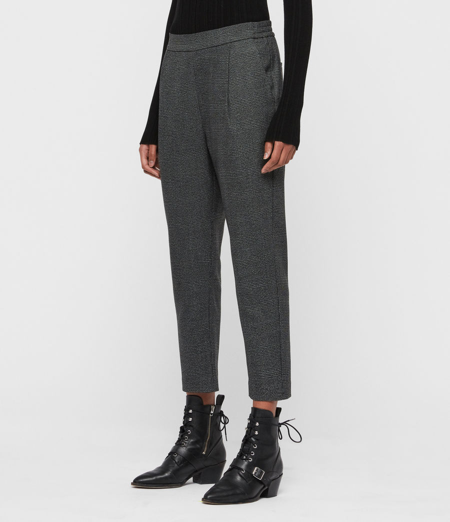 Women's Anneka Check Trousers (grey_black) - Image 2