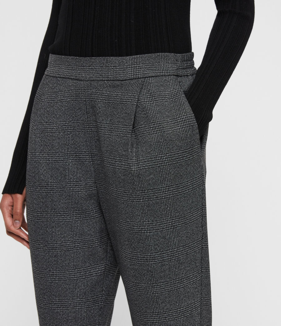 Women's Anneka Check Trousers (grey_black) - Image 4