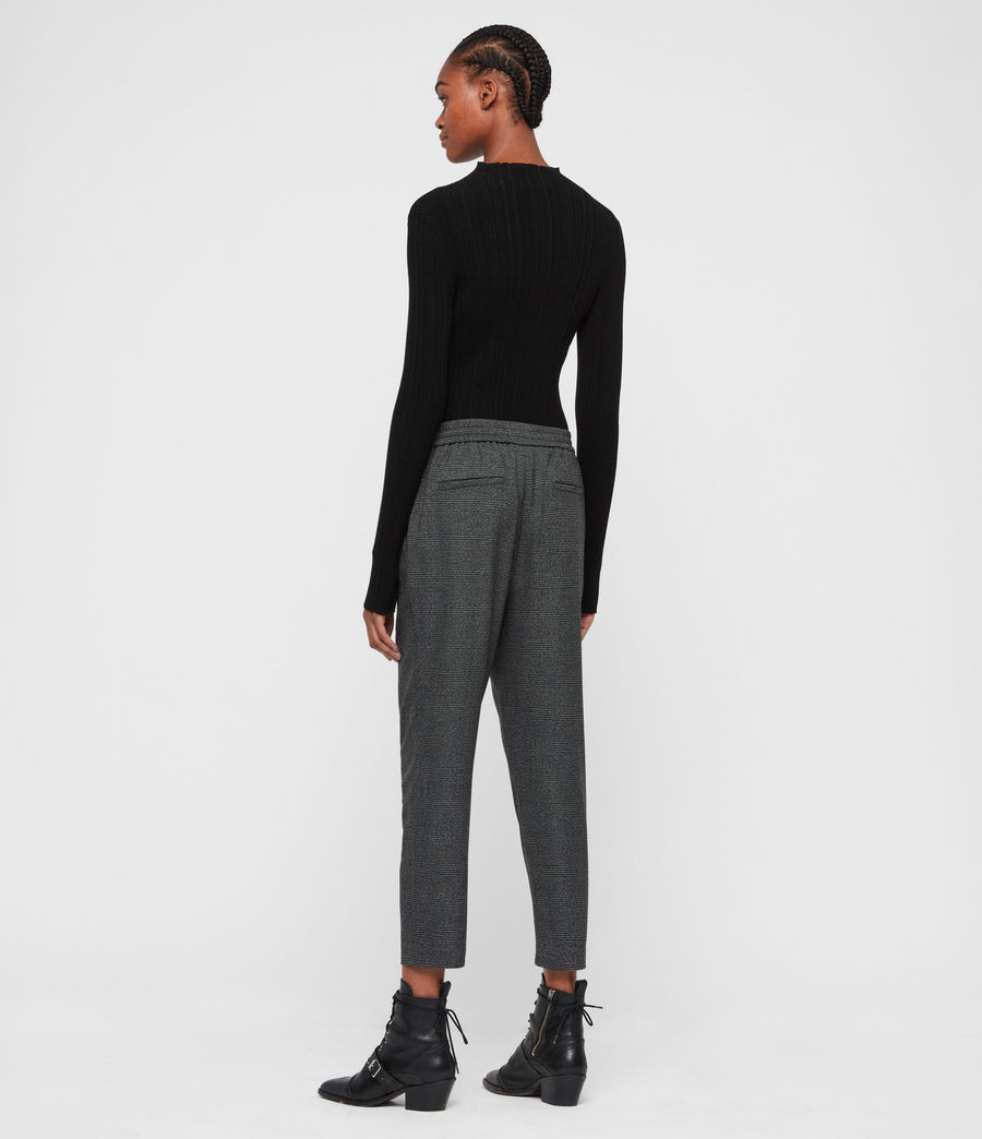 Women's Anneka Check Trousers (grey_black) - Image 5