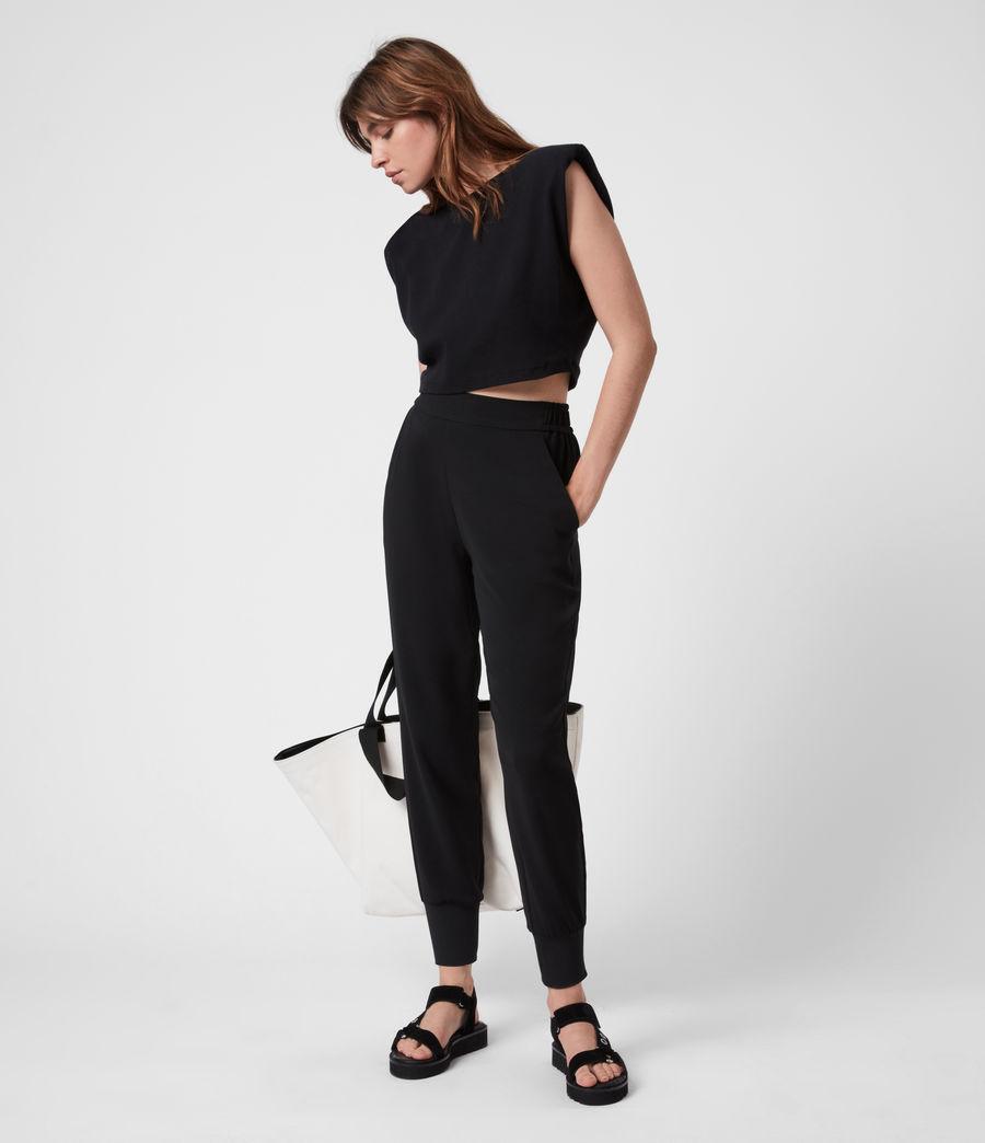 Women's Soraya Mid-Rise Trousers (black) - Image 1
