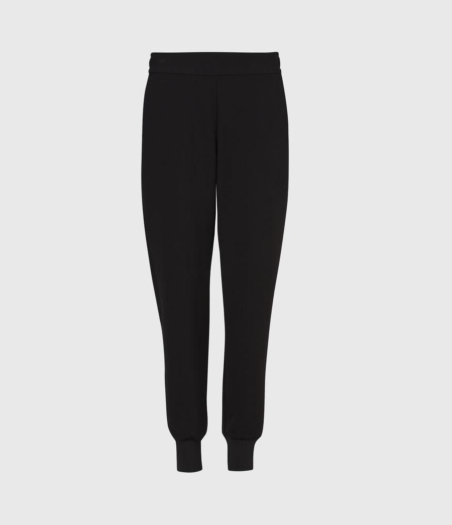 Women's Soraya Mid-Rise Trousers (black) - Image 2