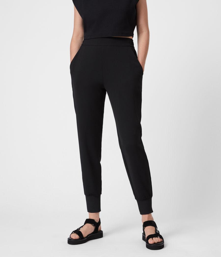 Women's Soraya Mid-Rise Trousers (black) - Image 4