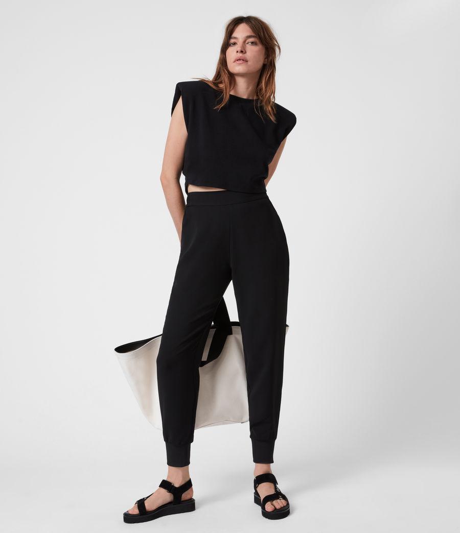 Women's Soraya Mid-Rise Trousers (black) - Image 6