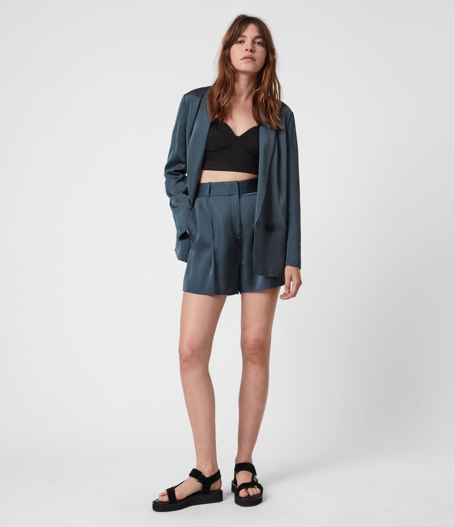 Women's Rafaella Blazer (blue) - Image 4