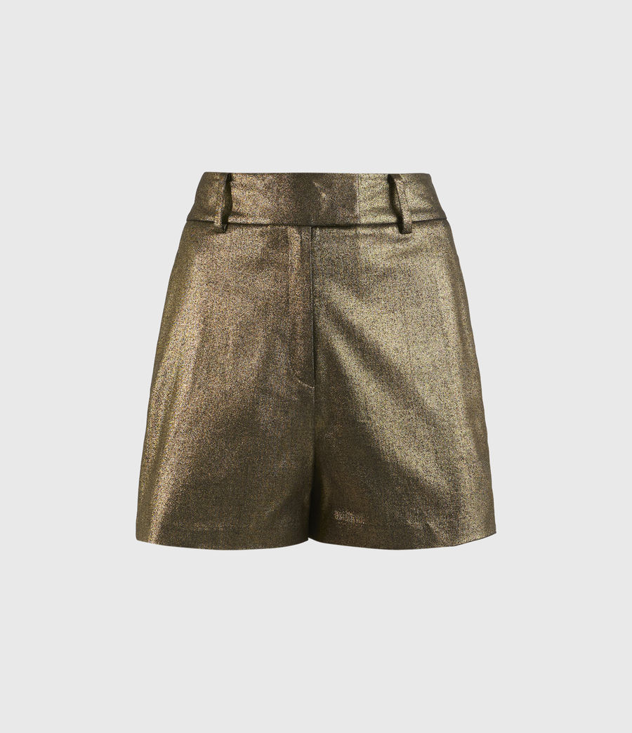 Womens Micah High-Rise Shorts (gold) - Image 2
