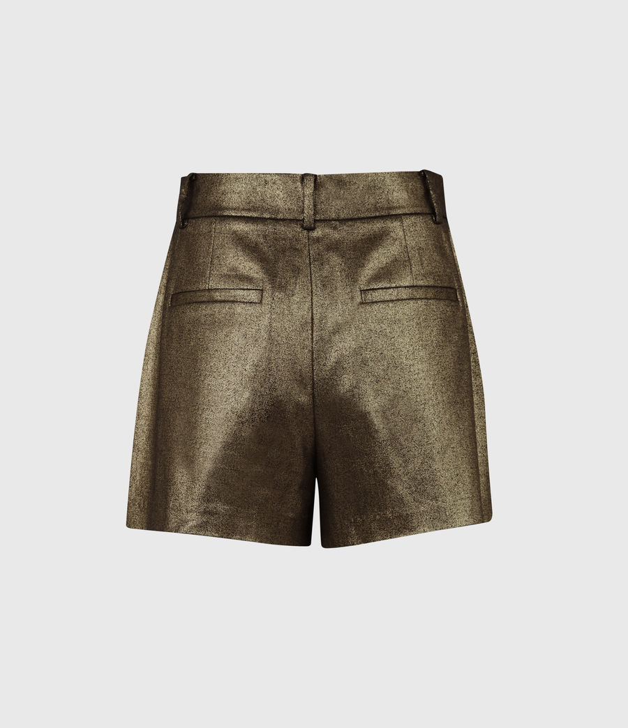 Womens Micah High-Rise Shorts (gold) - Image 3