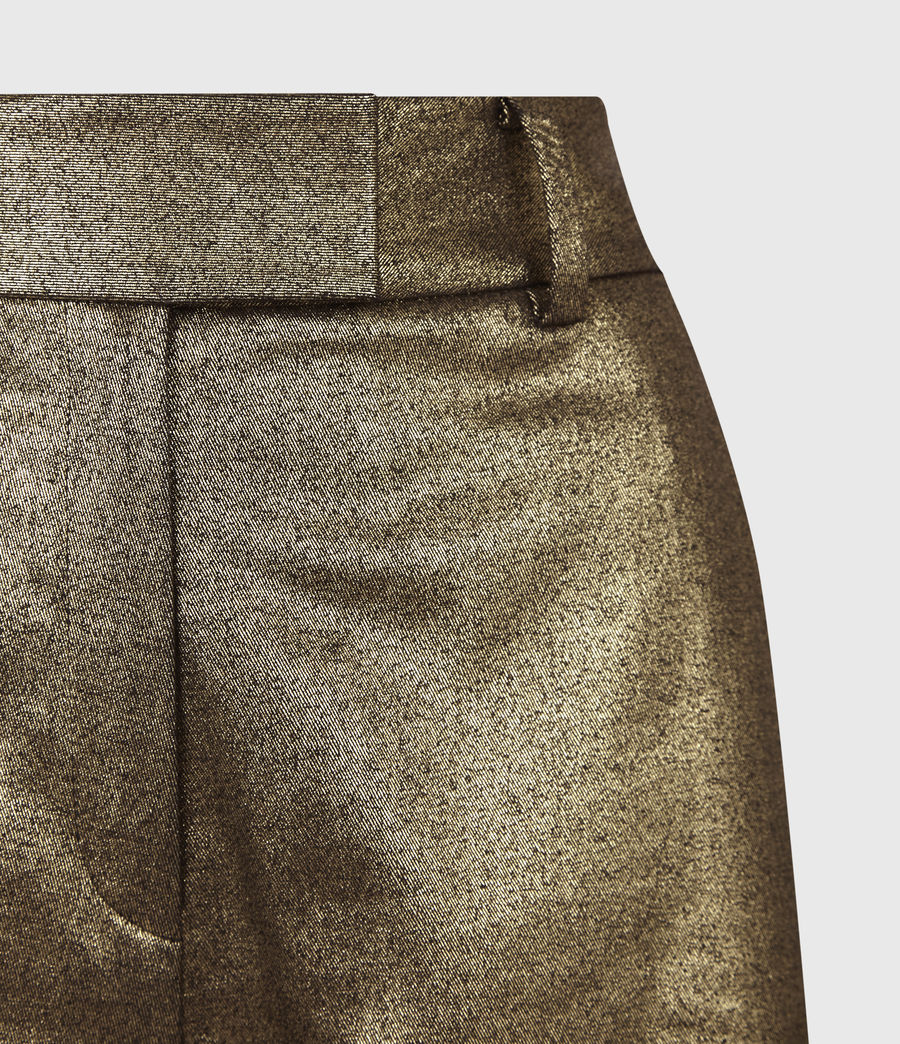 Womens Micah High-Rise Shorts (gold) - Image 4