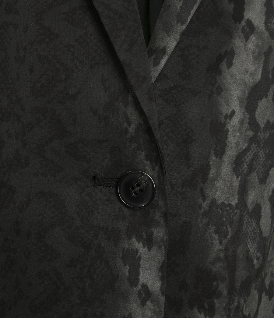 Womens Neve Snake Blazer (charcoal_grey) - Image 3