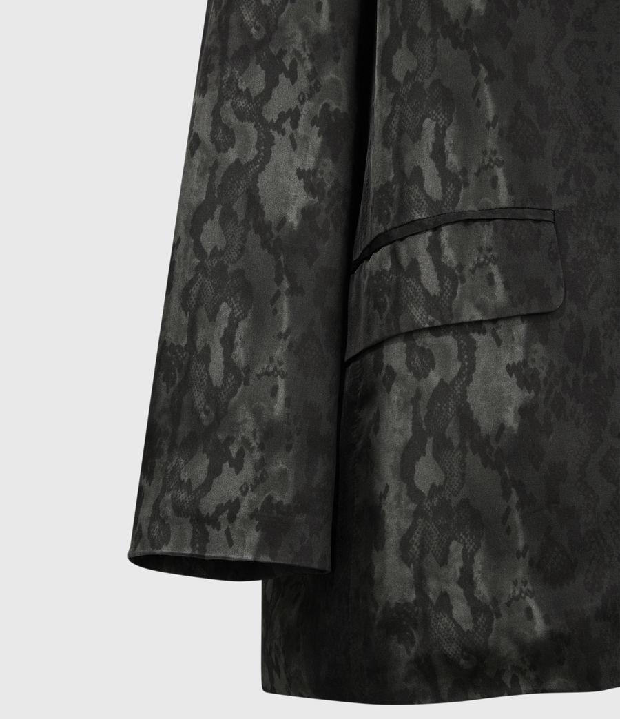 Womens Neve Snake Blazer (charcoal_grey) - Image 4