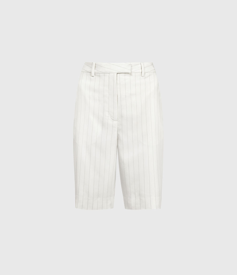 Mujer Clea Mid-Rise Shorts (white_black) - Image 1