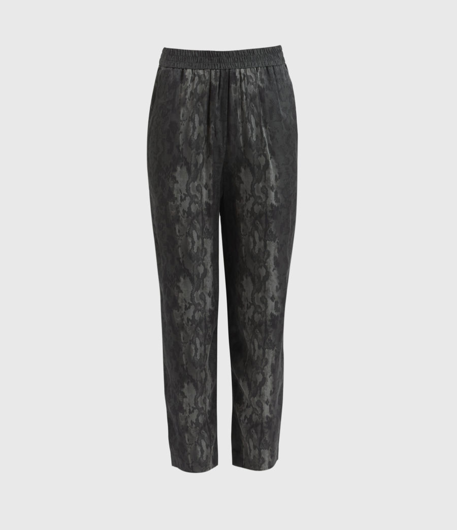 Women's Neve Low-Rise Tapered Snake Trousers (charcoal_grey) - Image 1