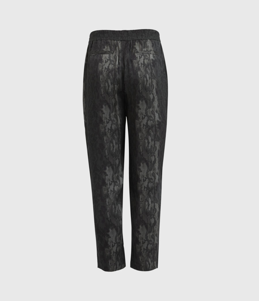 Women's Neve Low-Rise Tapered Snake Trousers (charcoal_grey) - Image 2