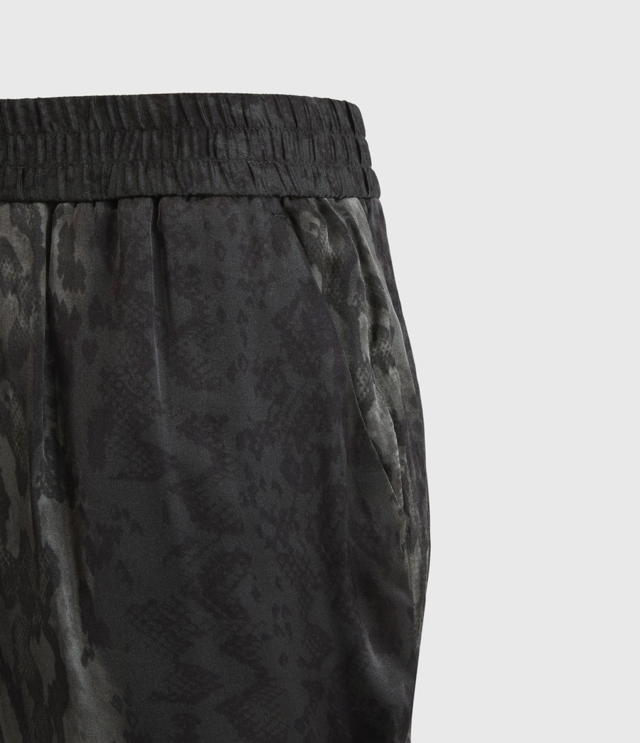 Women's Neve Low-Rise Tapered Snake Trousers (charcoal_grey) - Image 3