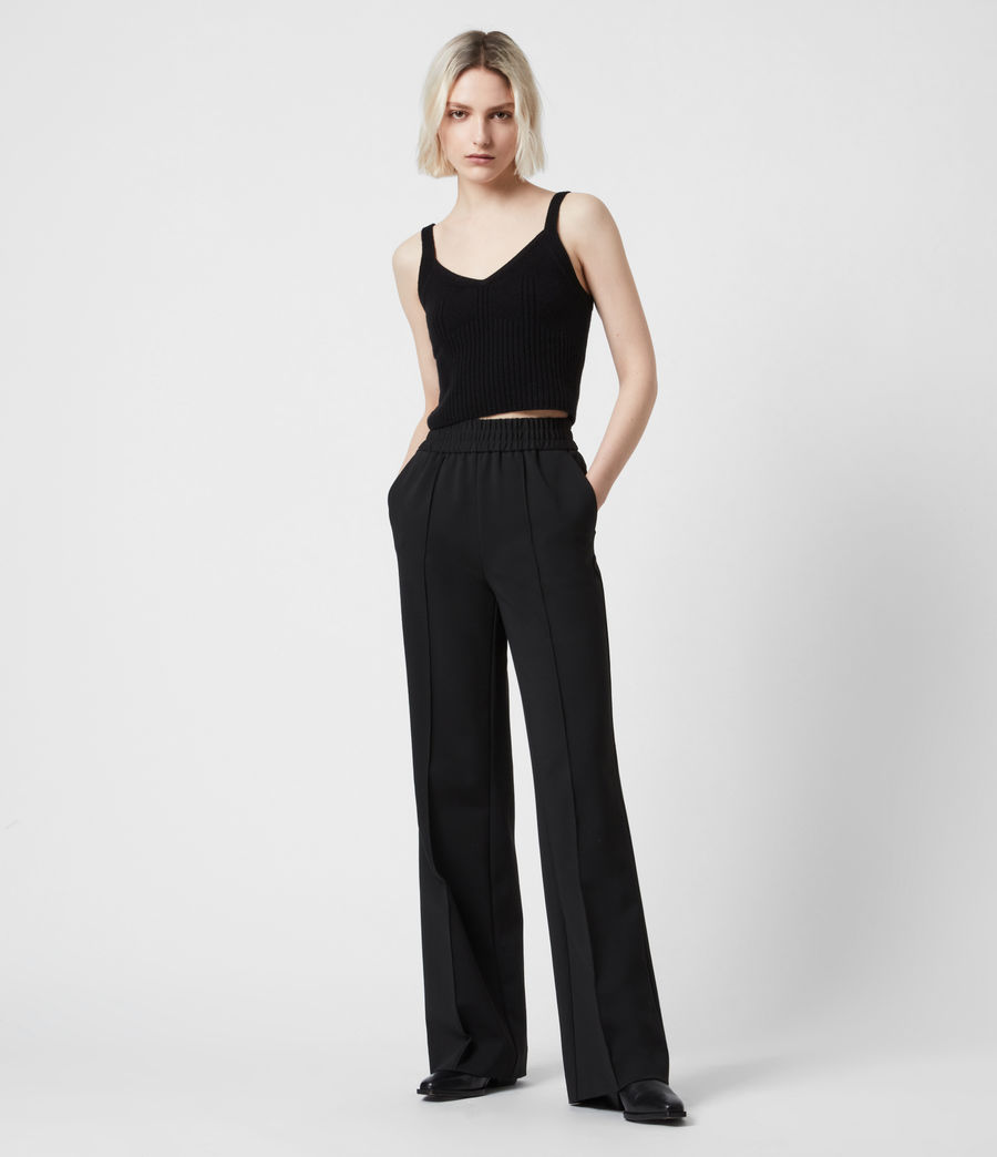 Womens Millie High-Rise Relaxed Pants (black) - Image 1