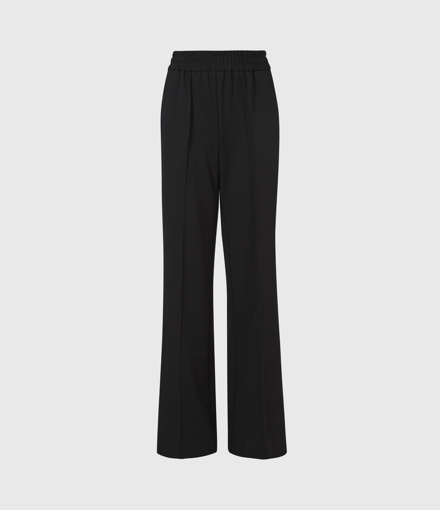 Womens Millie High-Rise Relaxed Pants (black) - Image 2