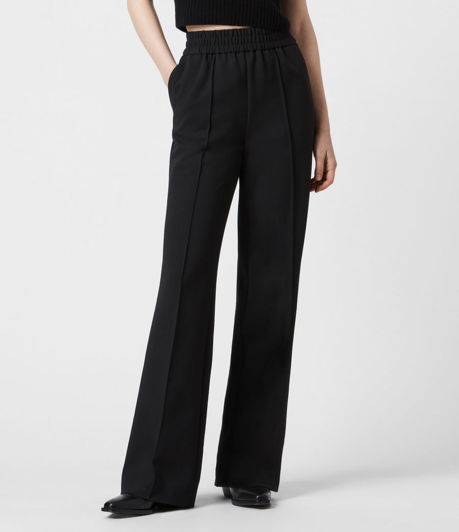 Womens Millie High-Rise Relaxed Pants (black) - Image 4