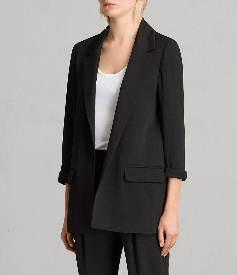 Womens Aleida Blazer (black) - Image 3
