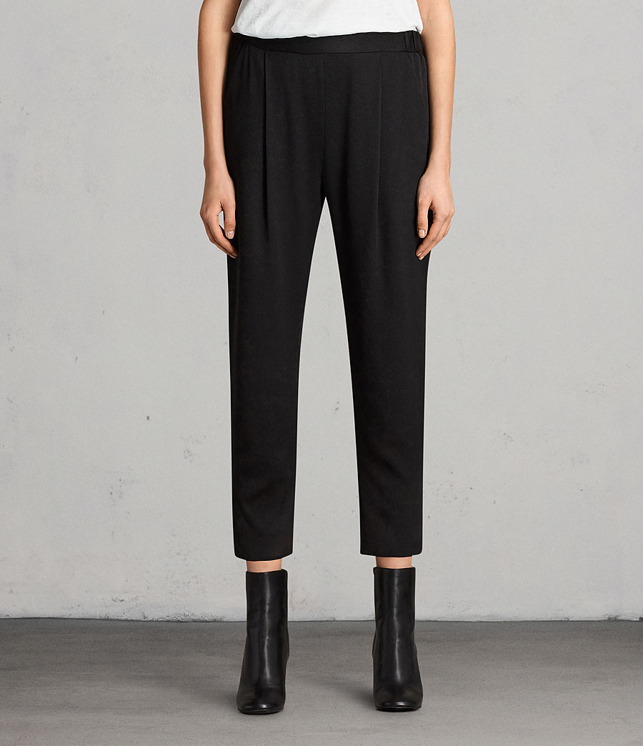 Women's Aleida Trousers (black) - Image 1