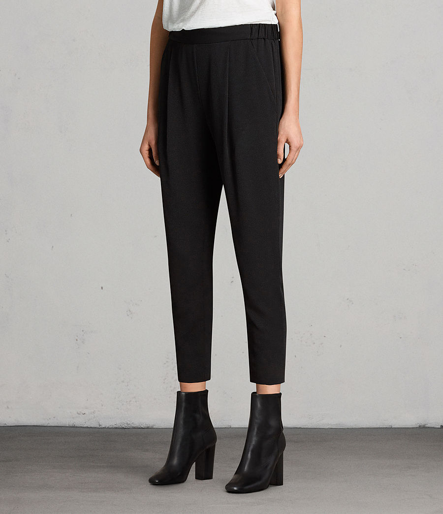 Women's Aleida Trousers (black) - Image 4