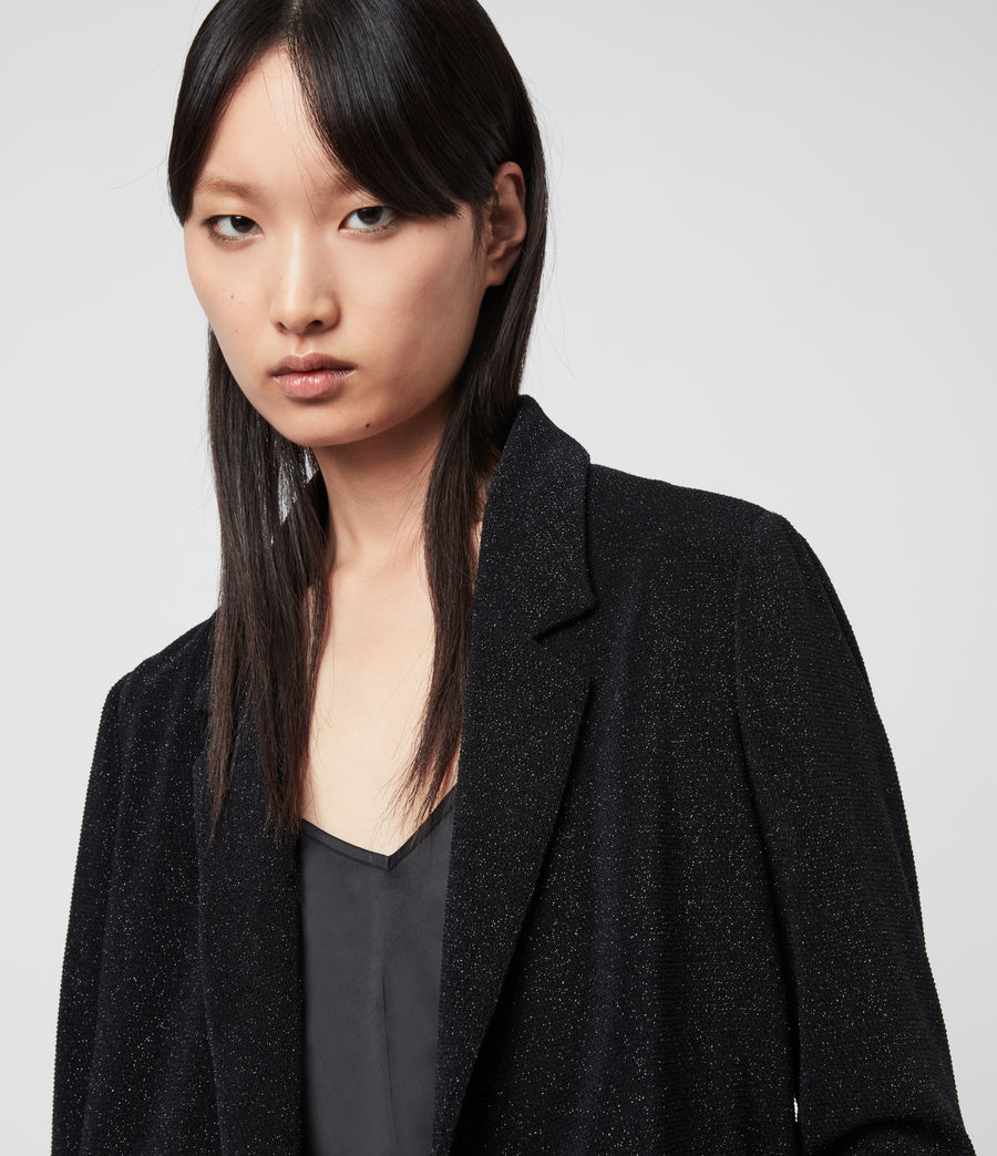 Mujer Saco Efecto Glitter Aleida Shimmer (black) - Image 2