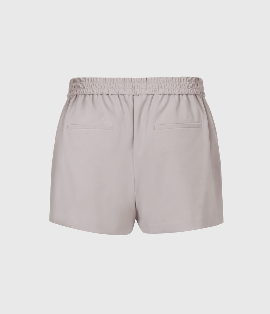 Womens Aleida Tri Mid-Rise Shorts (dusty_pink) - Image 3