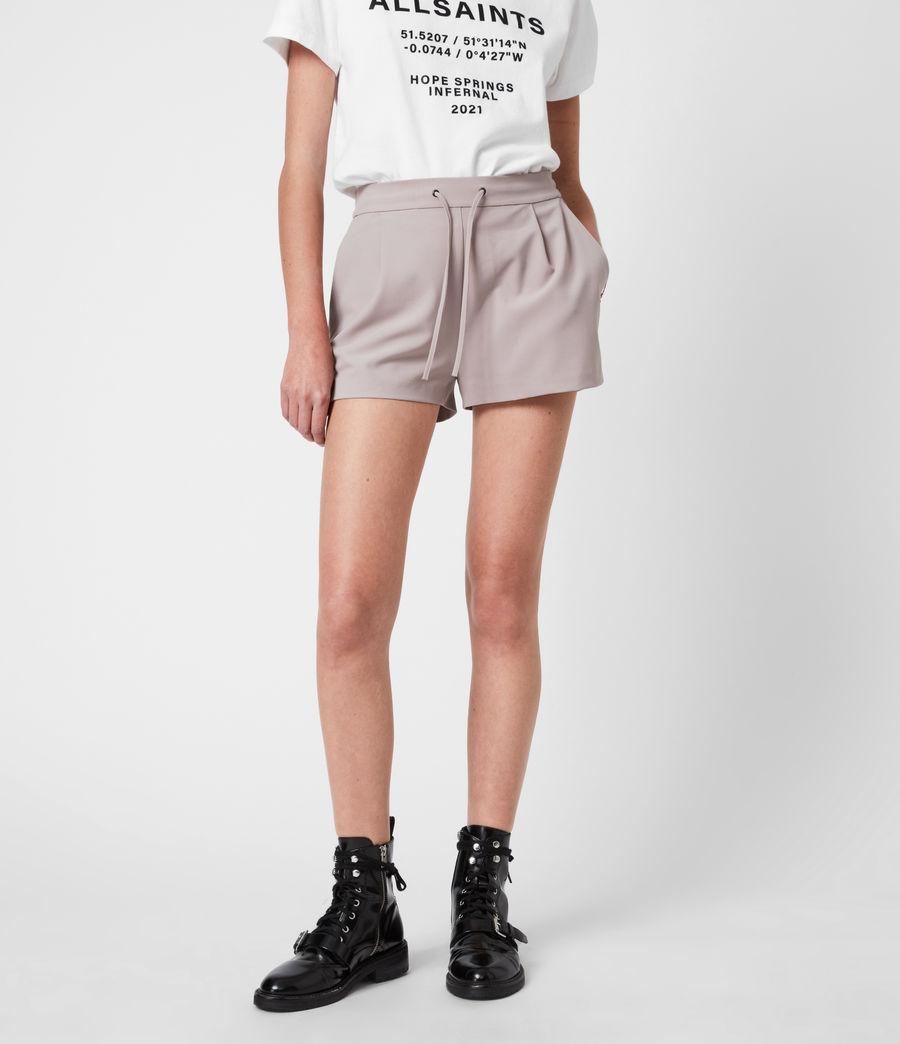 Womens Aleida Tri Mid-Rise Shorts (dusty_pink) - Image 4