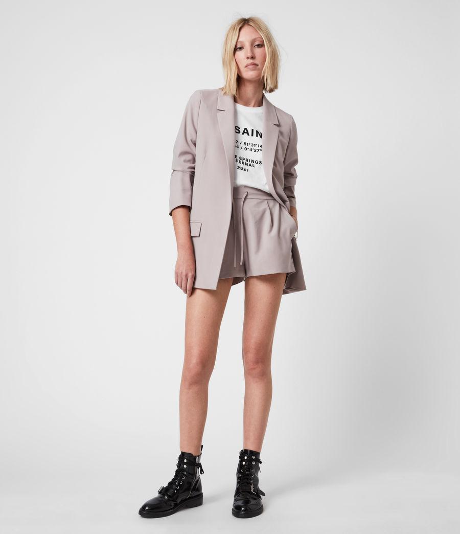 Womens Aleida Tri Mid-Rise Shorts (dusty_pink) - Image 6