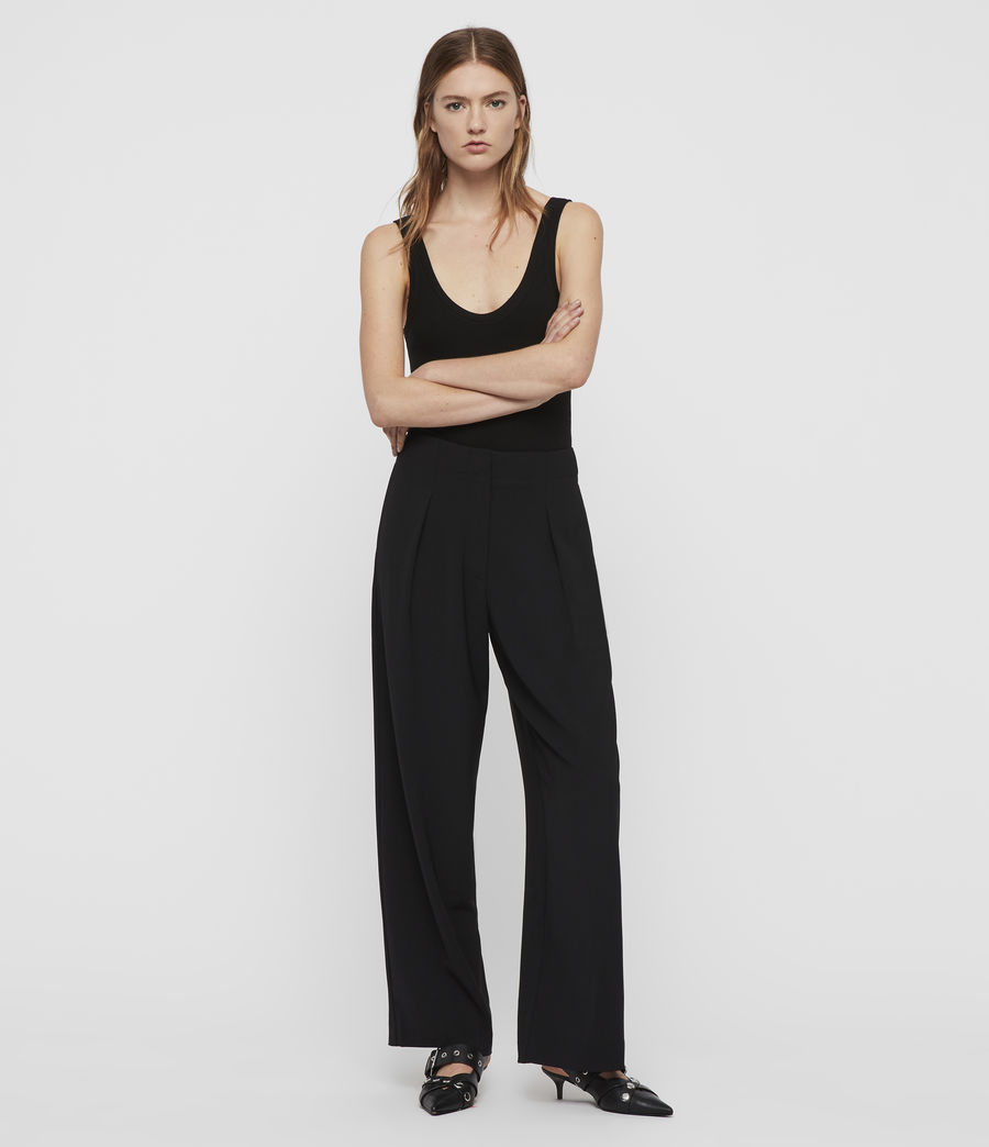 Women's Sienna Trousers (black) - Image 1