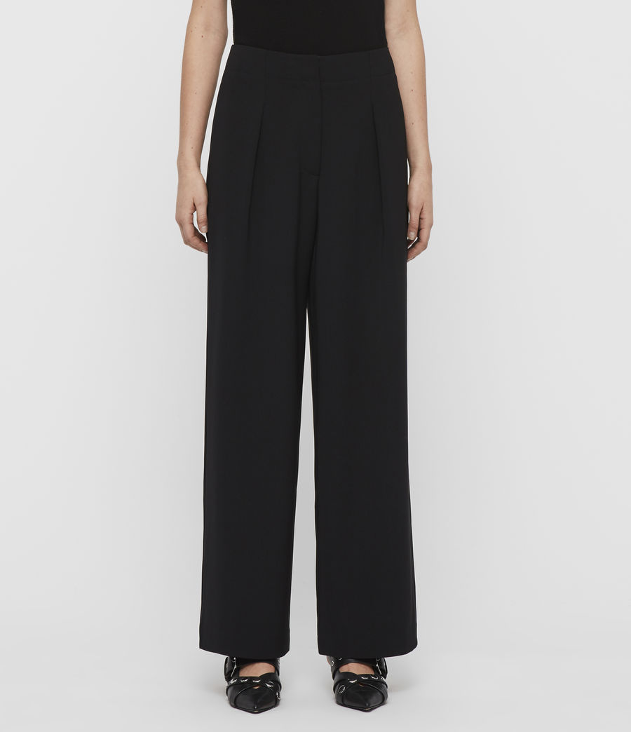 Women's Sienna Trousers (black) - Image 3