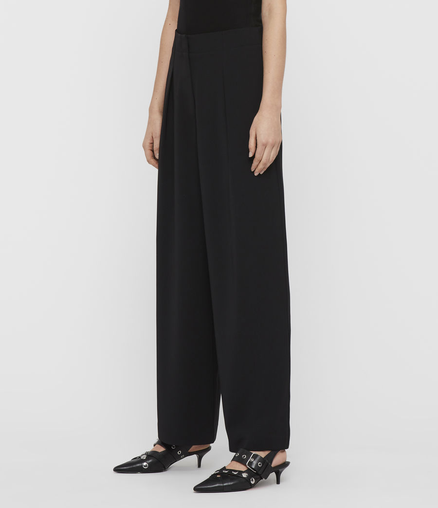 Women's Sienna Trousers (black) - Image 4
