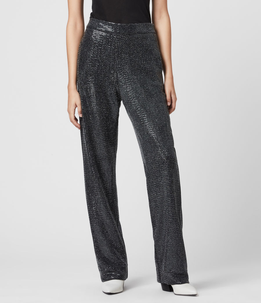 Women's Leanna Trousers (gunmetal_grey) - Image 3