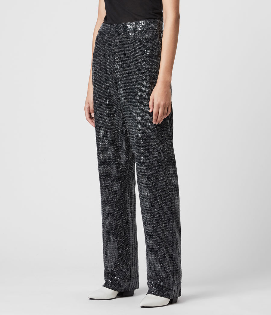 Women's Leanna Trousers (gunmetal_grey) - Image 4