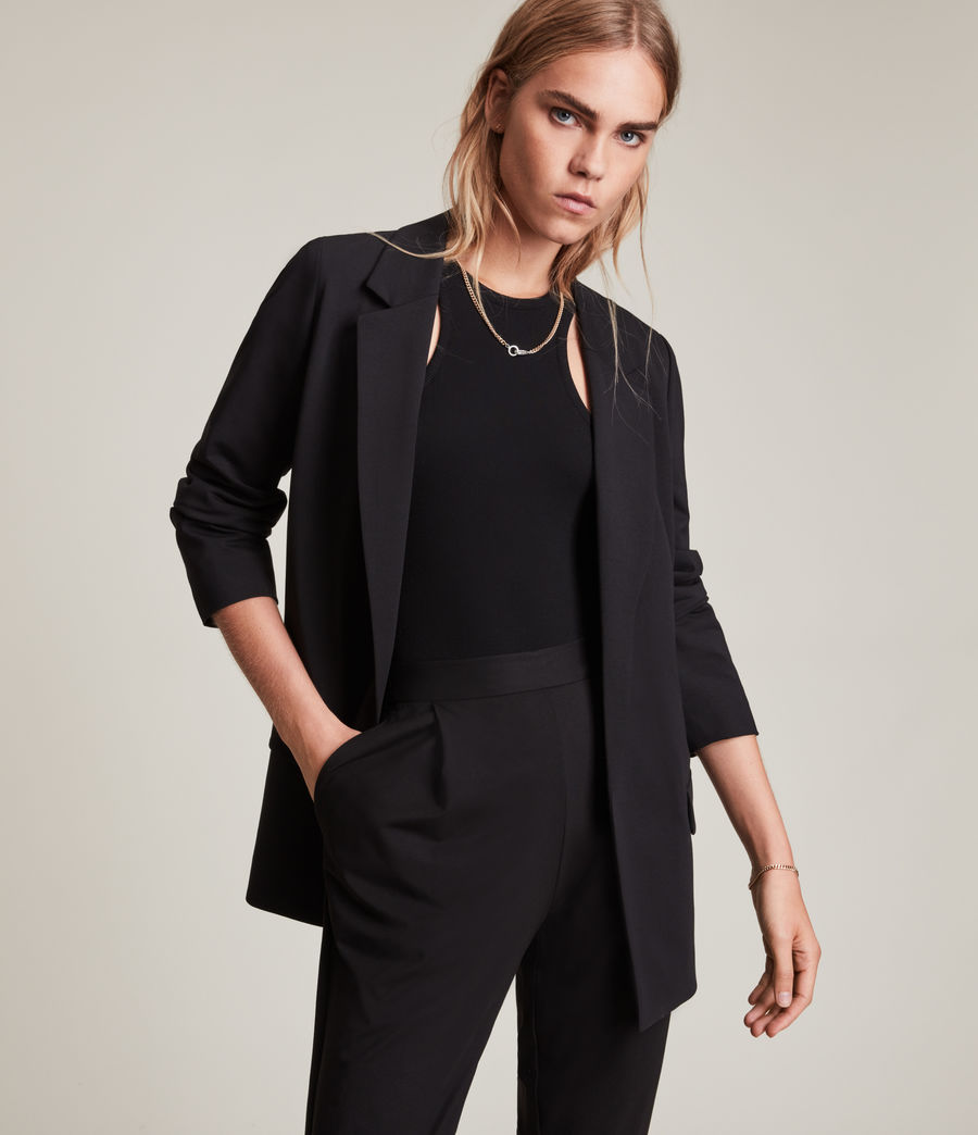Women's Aleida Jersey Blazer (black) - Image 1