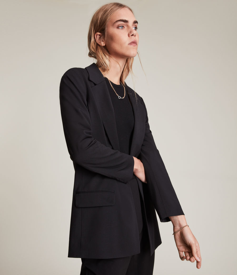 Women's Aleida Jersey Blazer (black) - Image 2