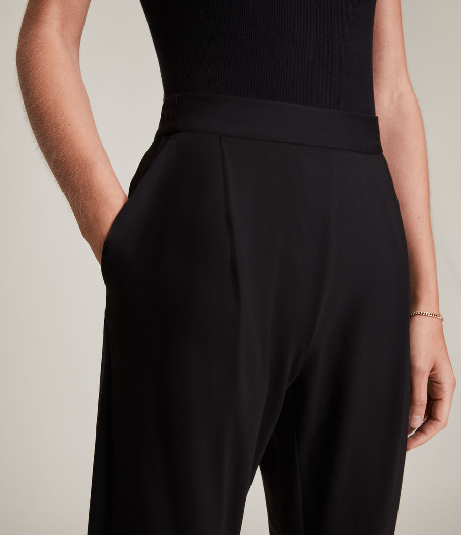 Women's Aleida Jersey Trousers (black) - Image 3