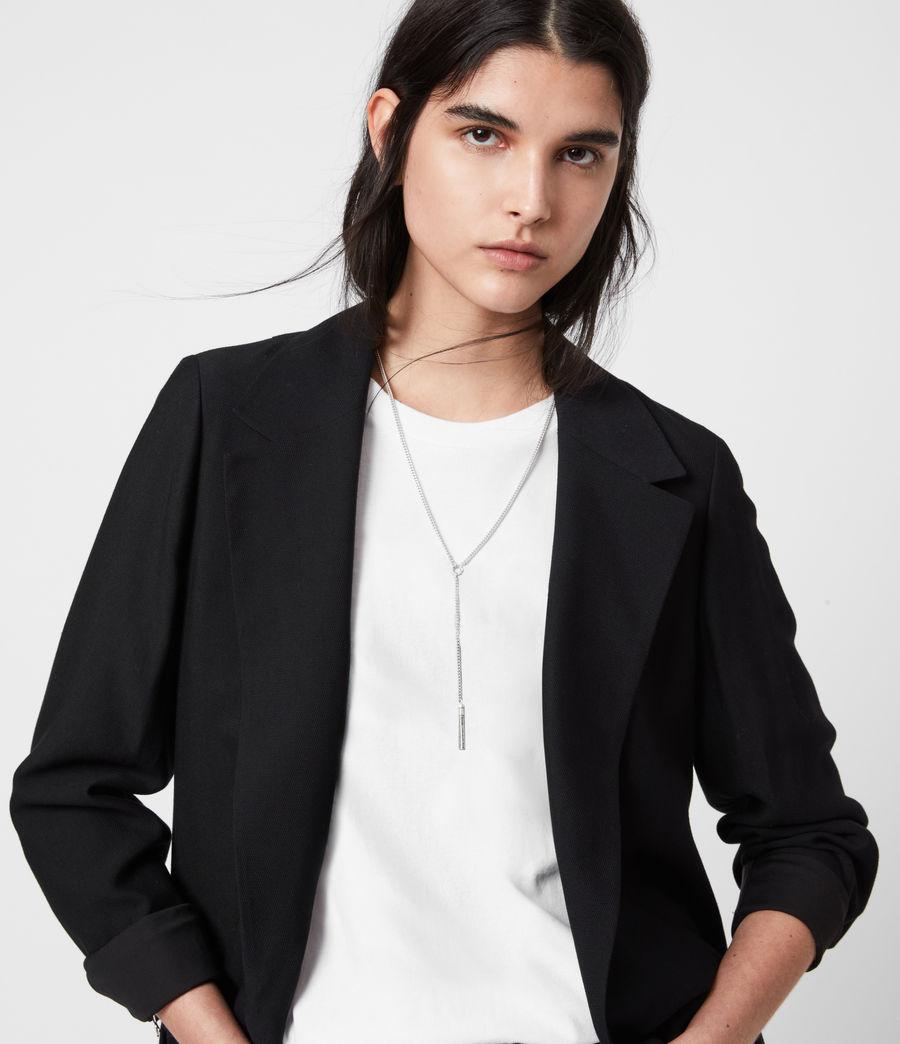 Womens Aleida Tri Duster Blazer (black) - Image 4