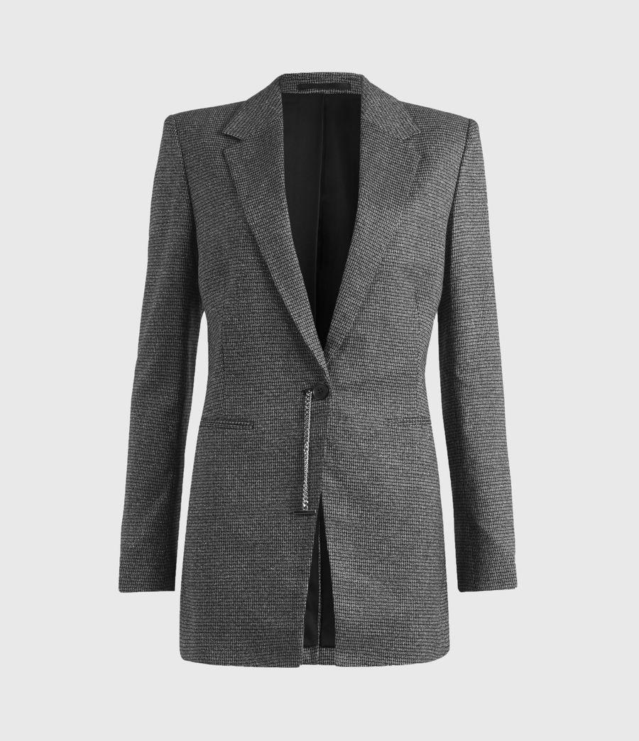 Women's Sansa Check Blazer (silver_black) - Image 2