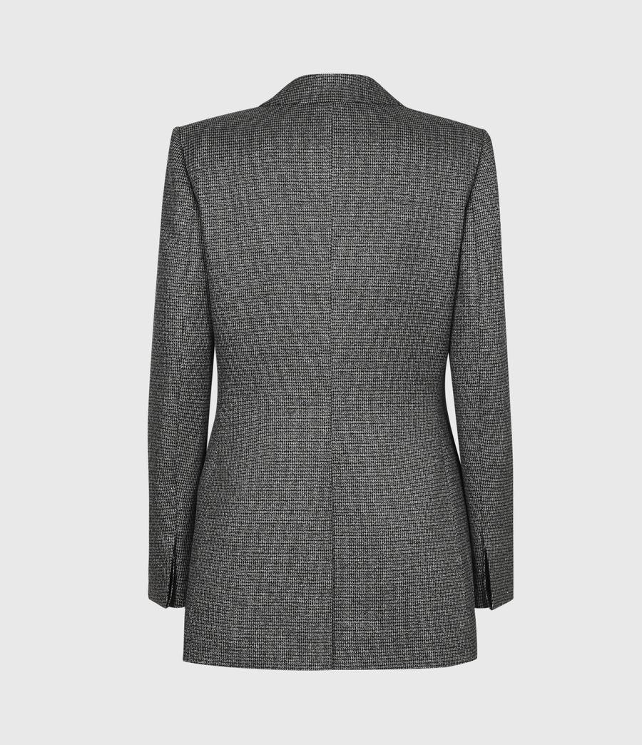 Women's Sansa Check Blazer (silver_black) - Image 3