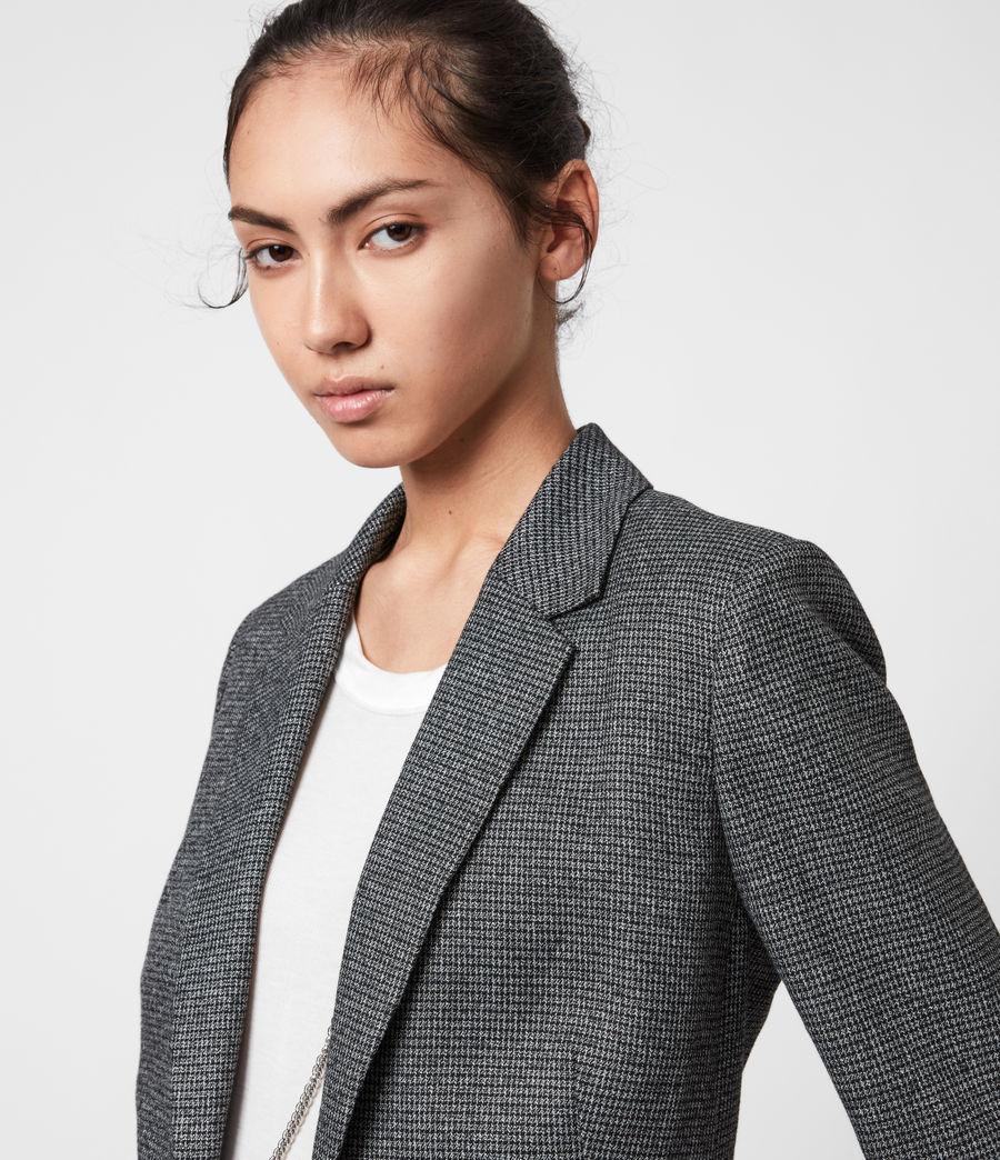 Women's Sansa Check Blazer (silver_black) - Image 4