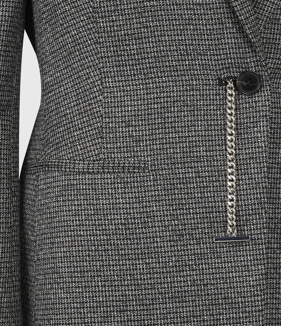 Women's Sansa Check Blazer (silver_black) - Image 5