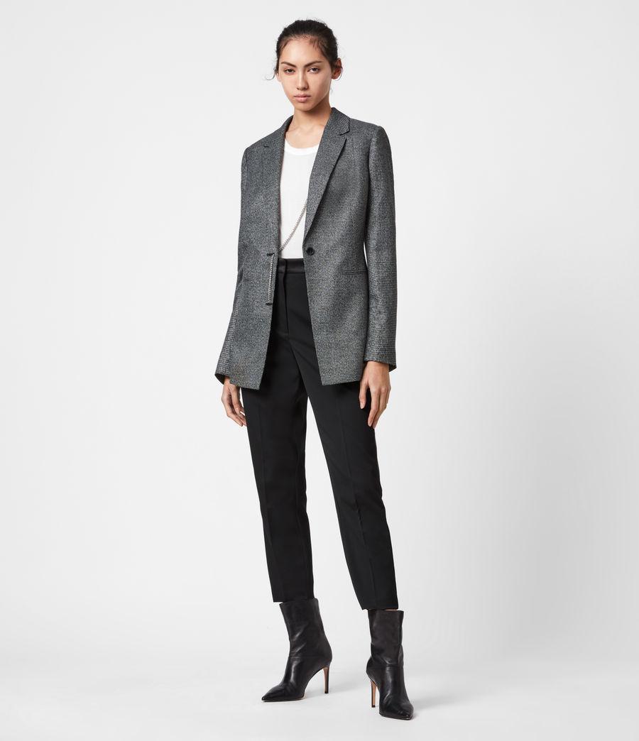 Women's Sansa Check Blazer (silver_black) - Image 6