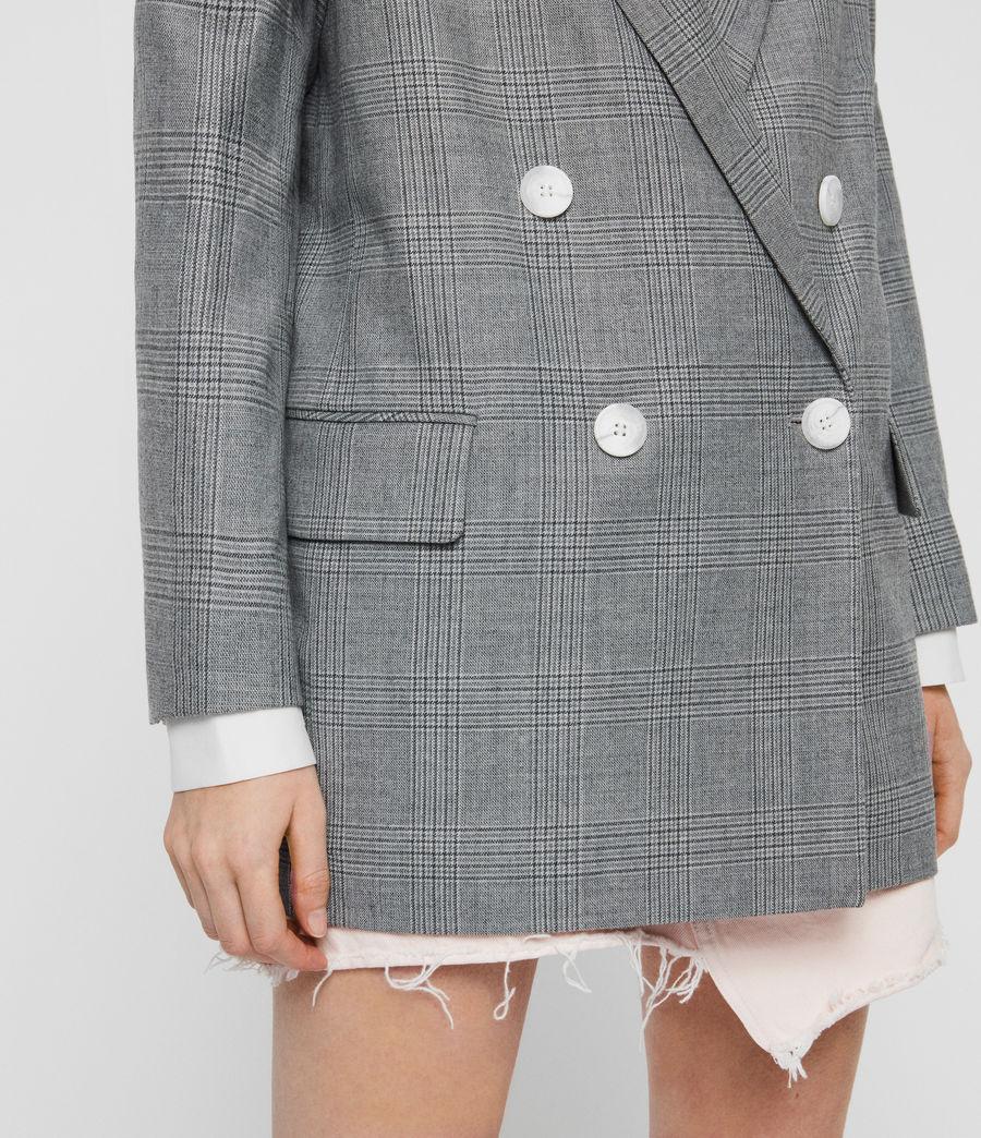 Womens Rowan Check Blazer (light_grey) - Image 3