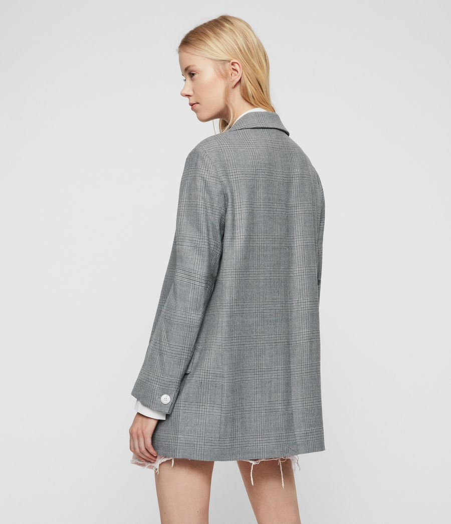 Womens Rowan Check Blazer (light_grey) - Image 5