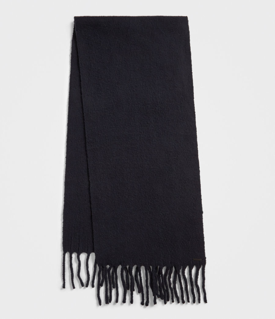 Women's Solid Brushed Blanket Scarf (cinder_black_marl) - Image 2
