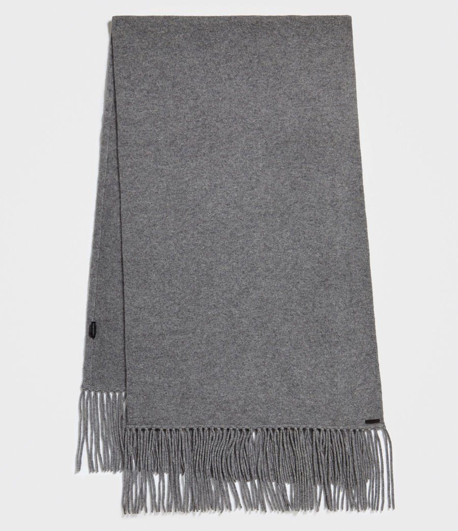 Women's Boiled Wool Scarf (grey_marl) - Image 2