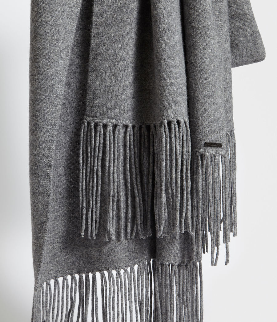 Women's Boiled Wool Scarf (grey_marl) - Image 4